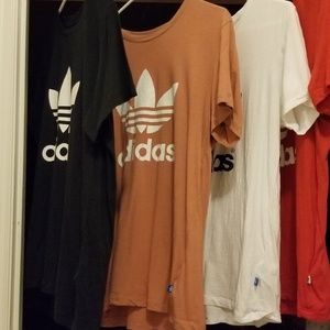 4 ladies size small Adidas boyfriend shirts